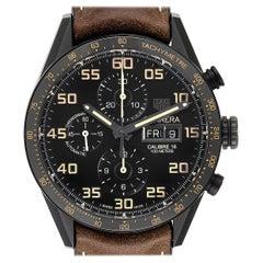 TAG Heuer Carrera Day Date Titanium PVD Men's Watch CV2A84 Box Card