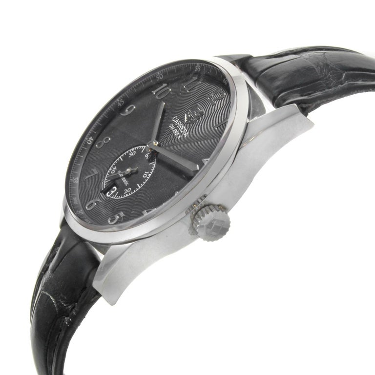 0c200049077 TAG Heuer Carrera Heritage Steel Leather Automatic Men s Watch  WAS2110.FC6180 In Good Condition For