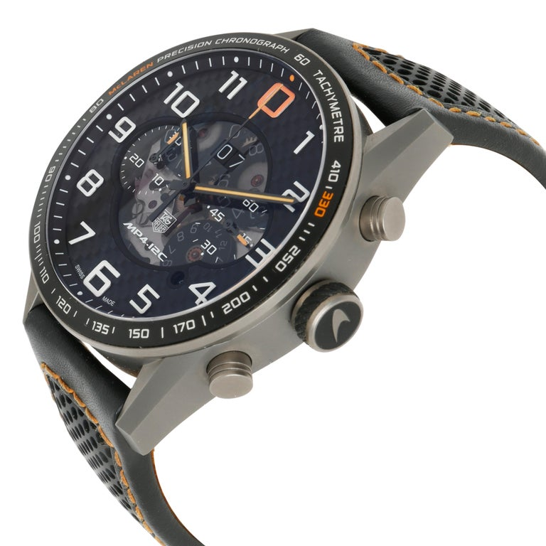 TAG Heuer Carrera McLaren CAR2080.FC6286 Men's Watch in Titanium In Excellent Condition For Sale In New York, NY