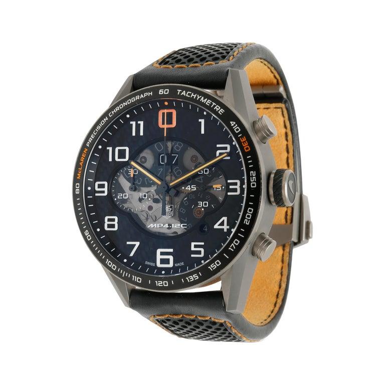 TAG Heuer Carrera McLaren CAR2080.FC6286 Men's Watch in Titanium For Sale