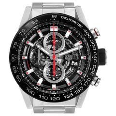 TAG Heuer Carrera Skeleton Dial Chronograph Men's Watch CAR2A1W Box Card