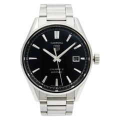 TAG Heuer Carrera Steel Black Date Dial Automatic Men's Watch WAR211A.BA0782