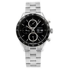 TAG Heuer Carrera Steel Black Dial Automatic Men's Watch CV2010.BA0794