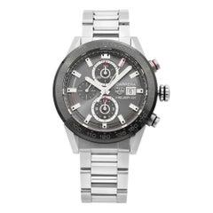 TAG Heuer Carrera Steel Ceramic Grey Dial Automatic Men's Watch CAR201W.BA0714
