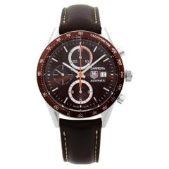 TAG Heuer Carrera Steel Chronograph Brown Dial Automatic Men Watch CV2013.FC6234