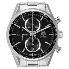 TAG Heuer Carrera Tachymeter Chronograph Men's Watch CAR2110 Box Card