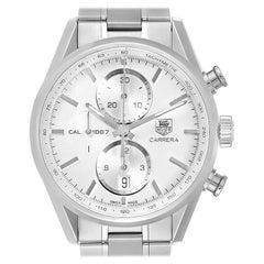 TAG Heuer Carrera Tachymeter Chronograph Men's Watch CAR2111 Box Card