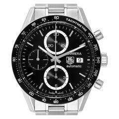 TAG Heuer Carrera Tachymeter Chronograph Men's Watch CV2010 Box Card