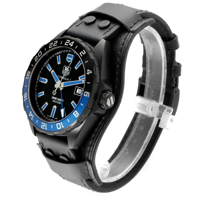 TAG Heuer Formula 1 GMT David Guetta Titanium PVD Batman Watch WAZ201A In Excellent Condition For Sale In Atlanta, GA