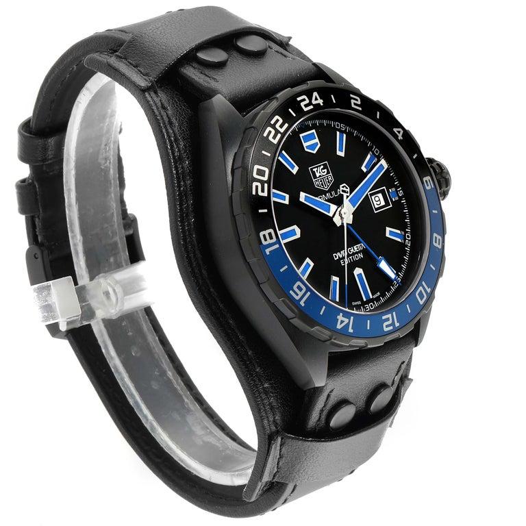 Men's TAG Heuer Formula 1 GMT David Guetta Titanium PVD Batman Watch WAZ201A For Sale