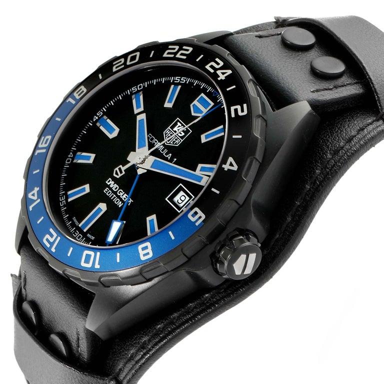 TAG Heuer Formula 1 GMT David Guetta Titanium PVD Batman Watch WAZ201A For Sale 1