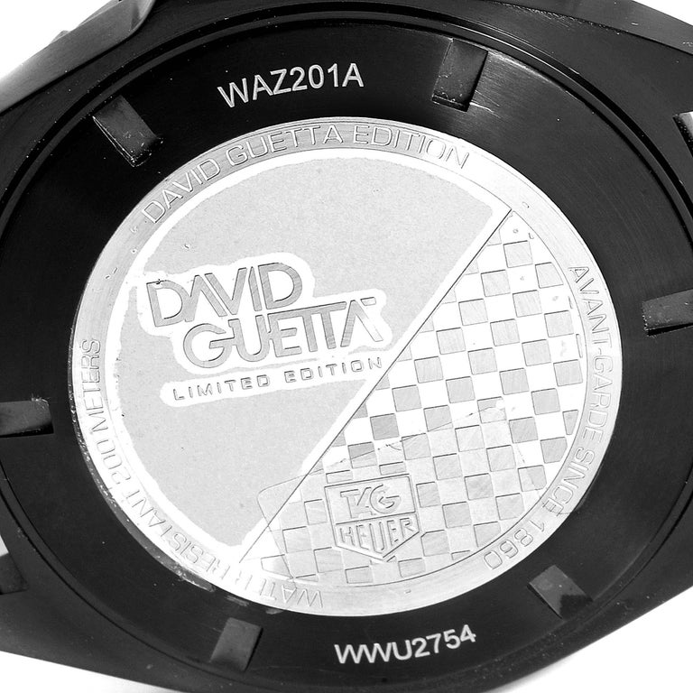 TAG Heuer Formula 1 GMT David Guetta Titanium PVD Batman Watch WAZ201A For Sale 2