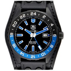 TAG Heuer Formula 1 GMT David Guetta Titanium PVD Batman Watch WAZ201A