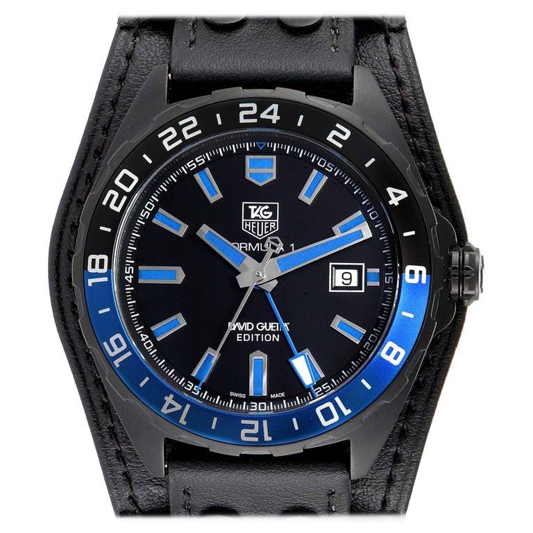 TAG Heuer Formula 1 GMT David Guetta Titanium PVD Batman Watch WAZ201A For Sale