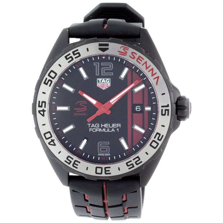 15498e5d13e TAG Heuer Formula One 1 Senna WAZ1014.FT8027 at 1stdibs