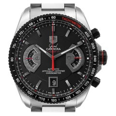 TAG Heuer Grand Carrera Black Dial Automatic Mens Watch CAV511C Box Card