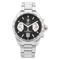 TAG Heuer Grand Carrera Black Dial Steel Automatic Men's Watch CAV511A.BA0902