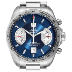 TAG Heuer Grand Carrera Blue Dial Limited Edition Watch CAV511F Box Card