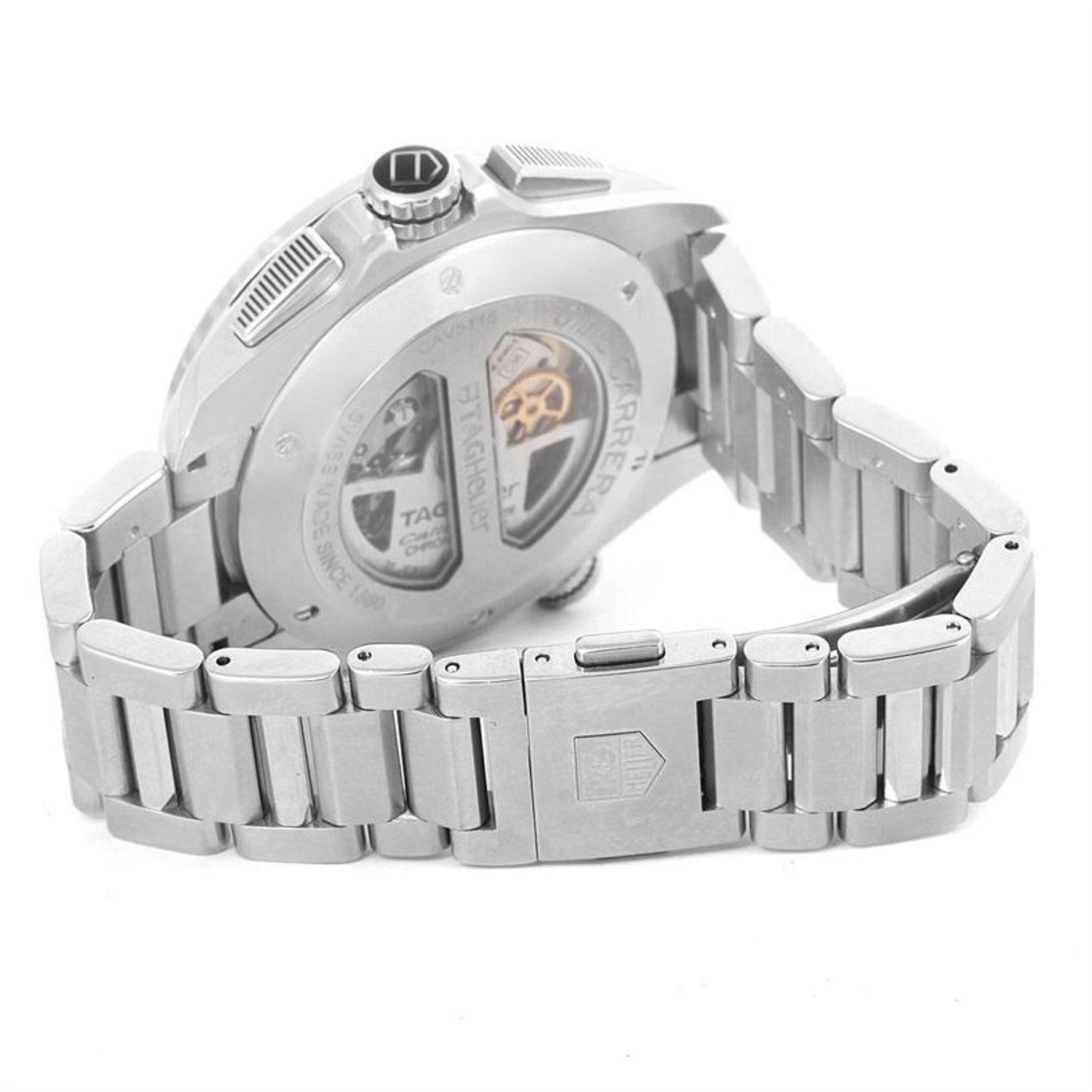 02ec6371ddd TAG Heuer Grand Carrera Calibre 36 RS Automatic Men's Watch CAV5115 For  Sale at 1stdibs