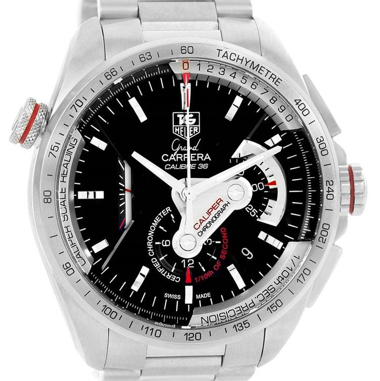 75906925be1ad TAG Heuer Grand Carrera Calibre 36 RS Automatic Men s Watch CAV5115 For  Sale 1
