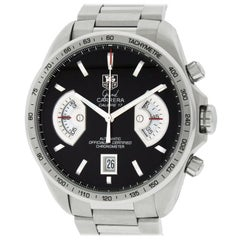 TAG Heuer Grand Carrera CAV511ABA0902 Black Dial Stainless Steel Men's Watch