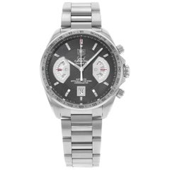TAG Heuer Grand Carrera Chronograph Black Dial Steel Men's Watch CAV511A.BA0902