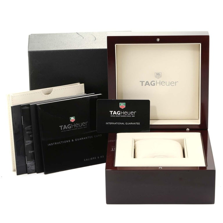 TAG Heuer Grand Carrera GMT Chronograph Men's Watch WAV5112 Box Card For Sale 7