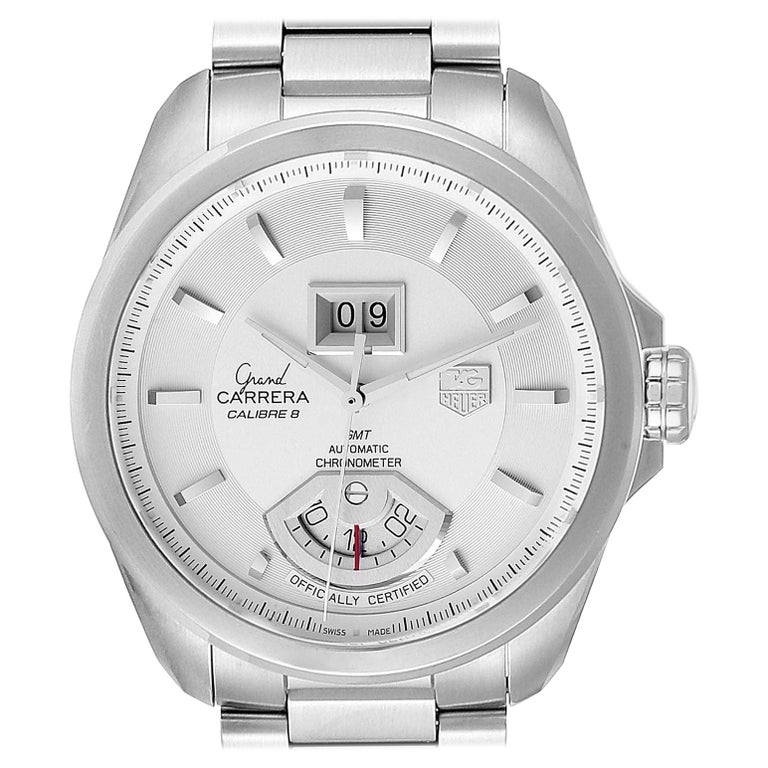 TAG Heuer Grand Carrera GMT Chronograph Men's Watch WAV5112 Box Card For Sale