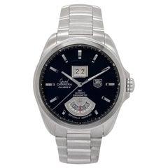 TAG Heuer Grand Carrera WAV5111 Men's Automatic Watch Black Dial SS