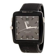Tag Heuer Grey Stainless Steel Professional Golf WAE1113 Men's Wristwatch 36 mm