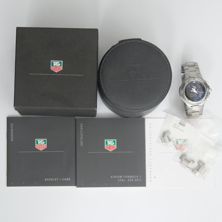 TAG Heuer Kirium Formula One Chronometer Men's Steel Watch CL111A.BA0700 For Sale 2