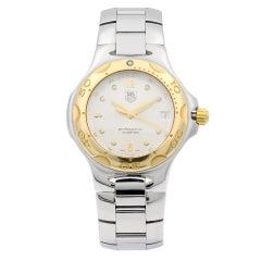 TAG Heuer Kirium Professional Gold Steel Silver Dial Quartz Men's Watch WL1150