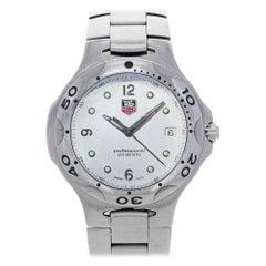 TAG Heuer Kirium White Lacquered Dial Steel Quartz Men's Watch WL1010.BA0700