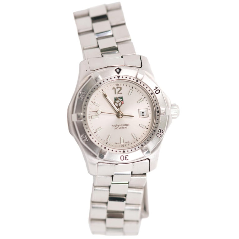 23723426a7a TAG Heuer Ladies Aquaracer 2000 Professional Quartz Wrist Watch For Sale
