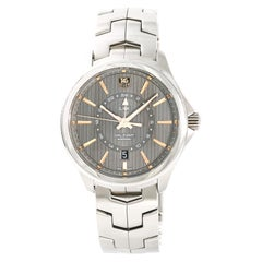 TAG Heuer Link Calibre 7 GMT WAT201C Men's Automatic Watch SS