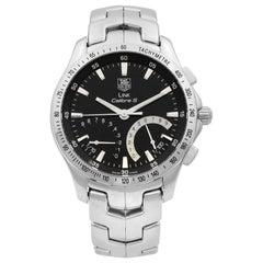 TAG Heuer Link Calibre S Chronograph Black Dial Quartz Mens Watch CJF7112.BA0596