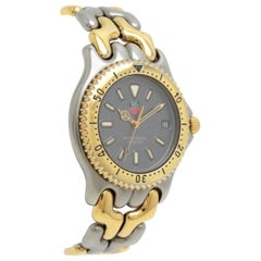 TAG Heuer Link Date Series Gray Dial Stainless Steel Gold Plated Combination