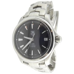 TAG Heuer Link Men's Watch WJF2210 Black Dial Silver Markers Box / Paper