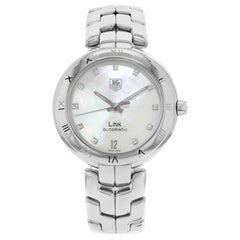 TAG Heuer Link Mother of Pearl Dial Diamonds Steel Ladies Watch WAT2315.BA0956