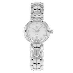 TAG Heuer Link Silver Dial Steel Diamonds Quartz Ladies Watch WAT1413.BA0954