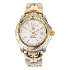 TAG Heuer Men's Stainless Steel Yellow Gold Link Wristwatch