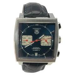 Tag Heuer Monaco CAW2111 w/ stainless-steel bezel & blue dialCertified Pre-Owned