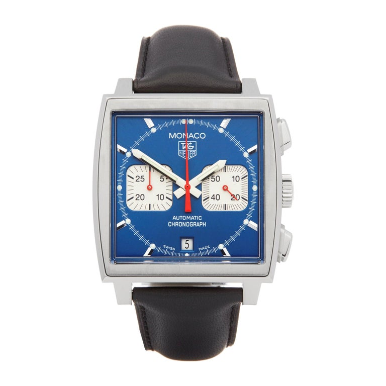 TAG Heuer Monaco Chronograph Stainless Steel CW2113-0 For Sale