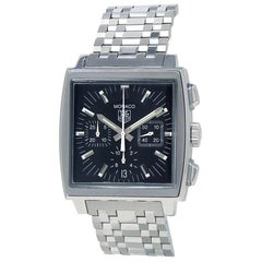 TAG Heuer Monaco CW2111, Black Dial, Certified and Warranty