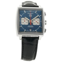 TAG Heuer Monaco CW2113-0, Blue Dial, Certified and Warranty