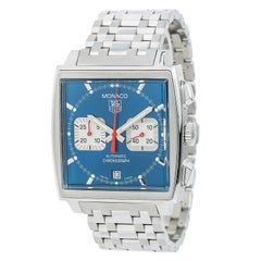 TAG Heuer Monaco CW2113-0 Men's Automatic Watch Stainless Steel Blue Dial