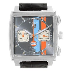 TAG Heuer Monaco Gulf Calibre 12 Chronograph Men's Watch CAW2113
