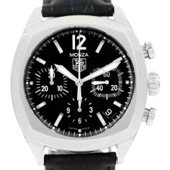 TAG Heuer Monza Black Dial Chronograph Steel Men's Watch CR2113