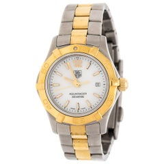 Tag Heuer Mother of Pearl Two-Tone Aquaracer WAF1424 Women's Wristwatch 27 mm