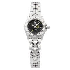 TAG Heuer Senna Stainless Steel Black Dial Quartz Ladies Watch WT141N